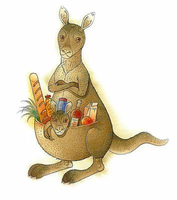 Kangaroo Animals Australia House Jumping Food Posters