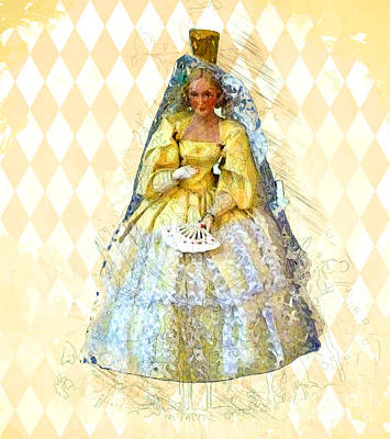 Ball Gown Digital Art Posters