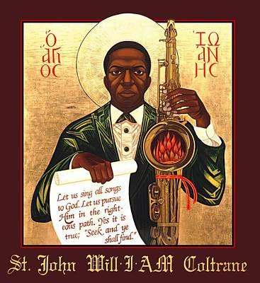 Saint John Coltrane. Black Christ Religion Posters