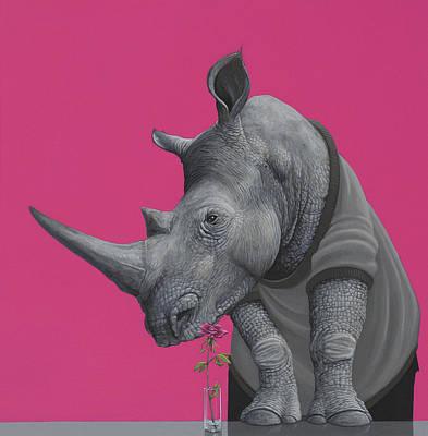 Rhinoceros Paintings Posters