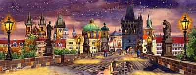 Praha Digital Art Posters