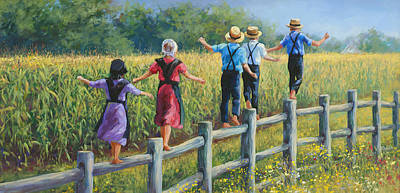 Amish Family Posters
