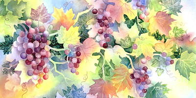 Grapevine Leaf Paintings Posters