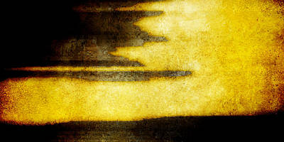 Brett Pfister Yellow Abstract Horizontal Lines Epic Amazing Colors Posters