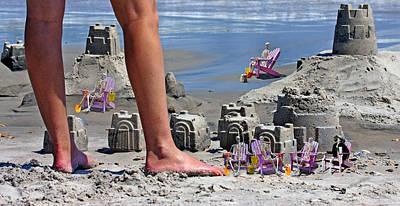 Sand Castles Digital Art Posters