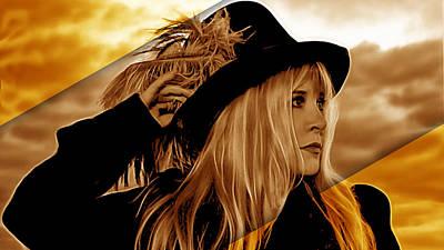 Stevie Nicks Mixed Media Posters