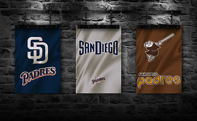 San Diego California Baseball Stadiums Posters