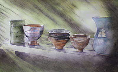 Hand Thrown Pottery Paintings Posters