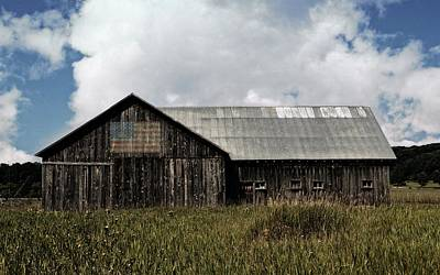 Rustic Buildings With Flag Photographs Posters