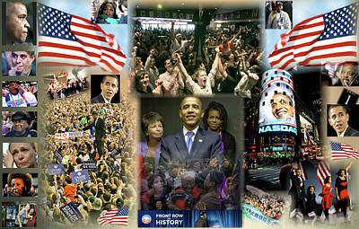 The 2008 Presidential Election Digital Art Posters