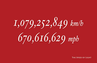 Speed Of Light Posters