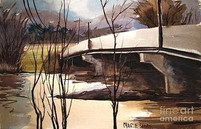 River Flooding Paintings Posters