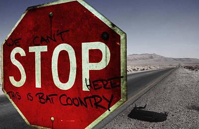 Stop Sign Digital Art Posters
