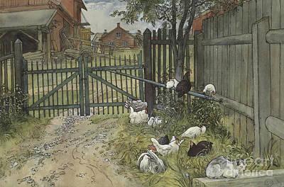 Farm Scenes Drawings Posters
