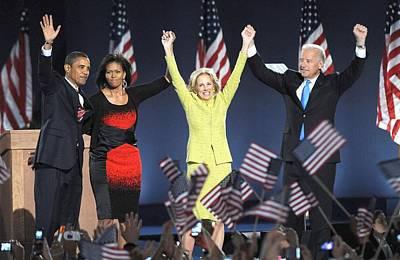 Barack Obama U.s. Presidential Election Victory Speech And Celebration Posters