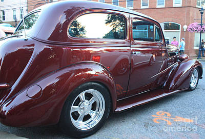 1937 Chevy Two Door Sedan Rear And Side View Posters