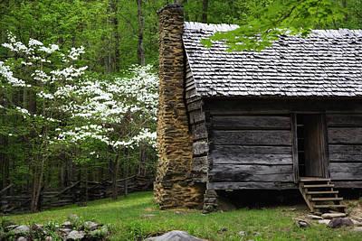Split Log Cabin Posters