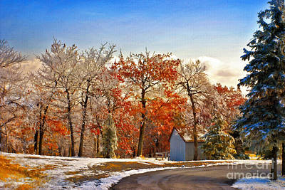 Winter And Autumn Landscape Posters