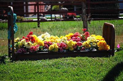 Flower Flowers Bed Iron Cast Dirt Colorful Grass Garden Fence Huntsville Posters