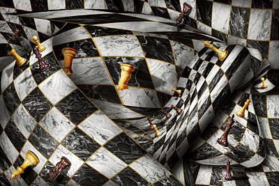 Chess Queen Digital Art Posters