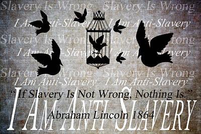 Anti-slavery Mixed Media Posters