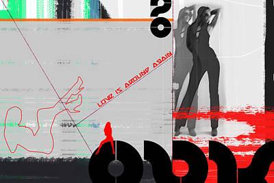 Dancing Girl Mixed Media Posters