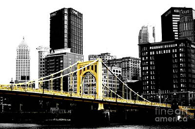 Bridge In Pittsburgh Digital Art Posters