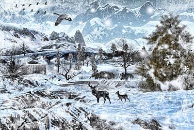 Geese Digital Art Posters