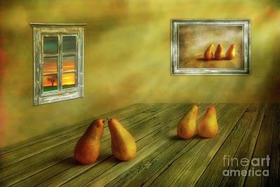 Pear Art Digital Art Posters