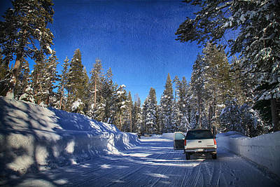 Snow-covered Landscape Digital Art Posters