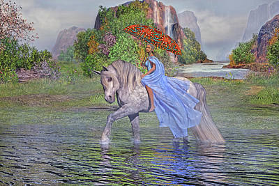 Fall River Scenes Digital Art Posters