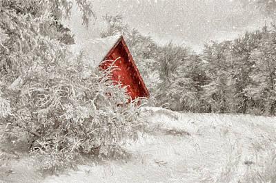 Snowy Roads Digital Art Posters