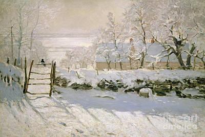 Snow Landscape Paintings Posters