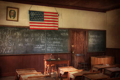 One Room School Houses Mixed Media Posters