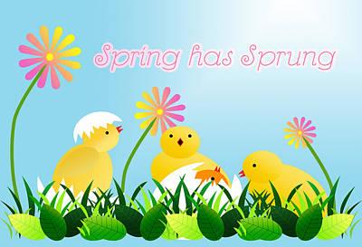Easter Flowers Digital Art Posters
