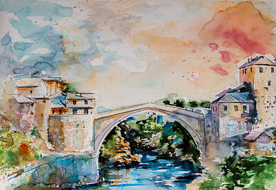 Mostar Paintings Posters