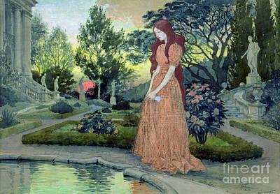Girl In Pool Paintings Posters