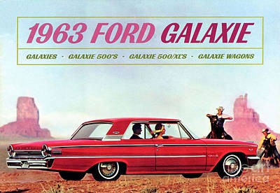 1963 Ford Mixed Media Posters