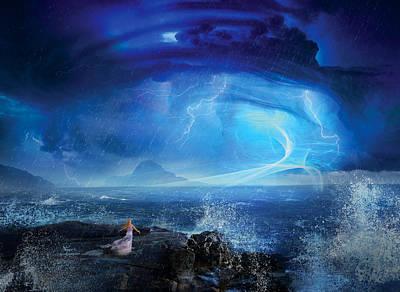 Angel Blues Digital Art Posters