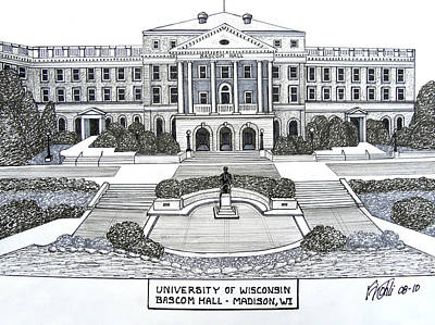 University Of Wisconsin Drawings Posters