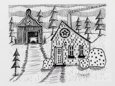 Barn Pen And Ink Drawings Posters