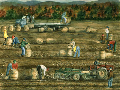 Maine Agriculture Paintings Posters