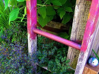 Pink Garden Ladder Posters