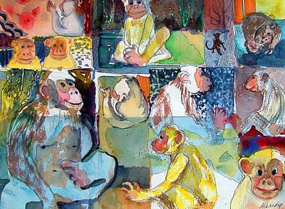 Orangutan Drawings Posters