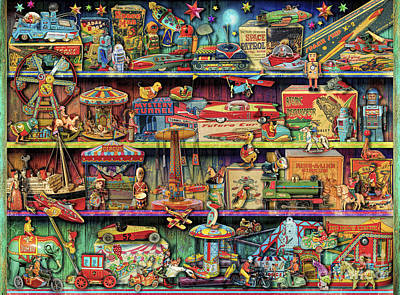 Toy Shop Digital Art Posters