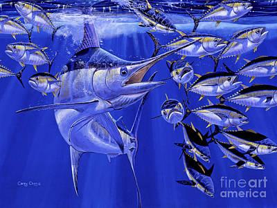 Black Marlin Paintings Posters