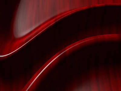 Mahogany Red Digital Art Posters