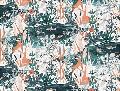 Kingfisher Digital Art Posters