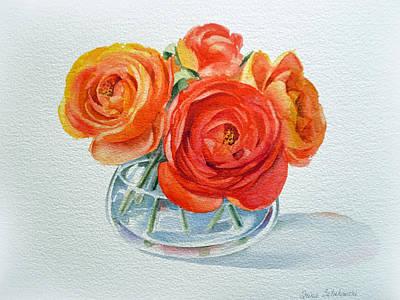 Fresh Flowers Paintings Posters