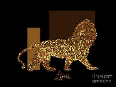 Gold Lame Digital Art Posters
